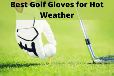 Glove holding a golf ball