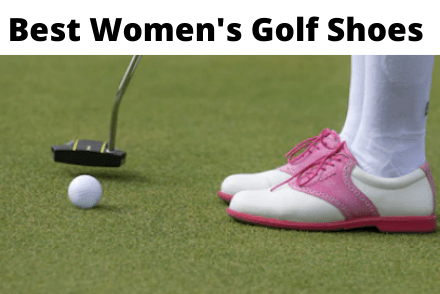 Womens shoes on golf course