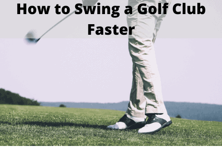 Man swinging golf club fast