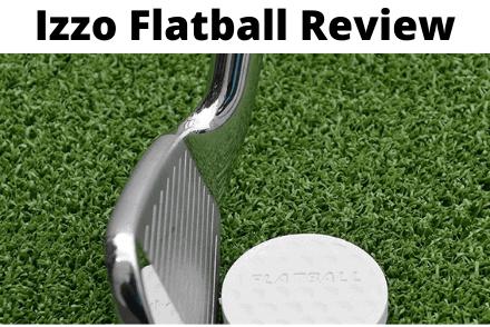 Izzo flatball next to golf club