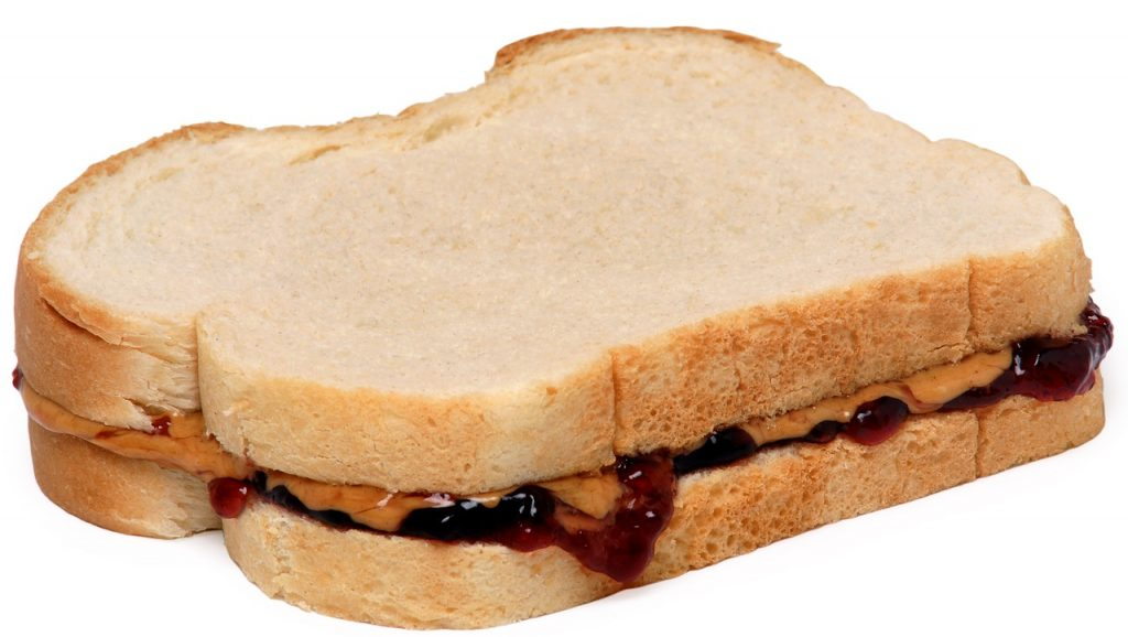 A peanut butter and jelly sandwich is a great golfing food. High in protein, carbs and a spike of sugar to power you til the end.