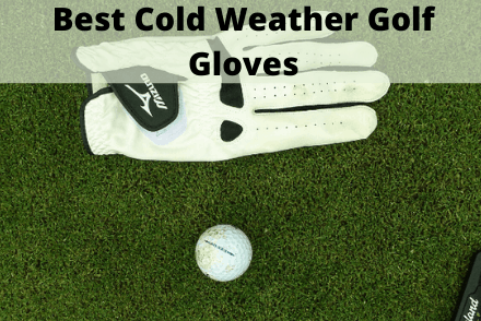 Golf glove next to golf ball