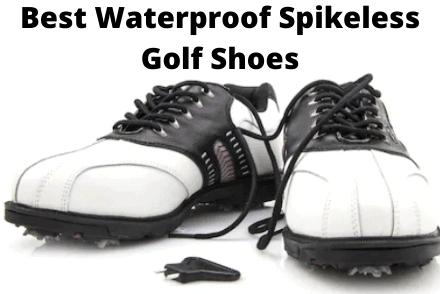 Waterproof spikeless golf shoes