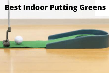 Golf ball on indoor putting green