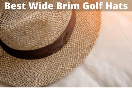 A wide brim golf hat