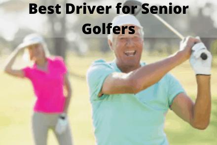 Senior using a golf driver