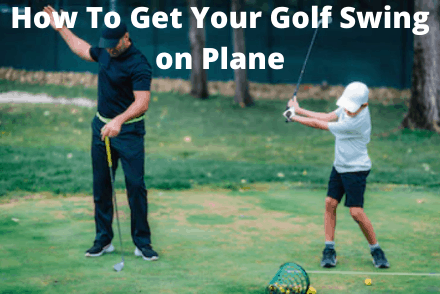 Kid learning how to get golf swing on plane