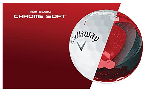 The Callaway Chrome Soft has a smaller compression that allows you to hit further with a slower swing speed.
