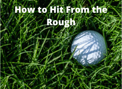 Golf ball in deep rough grass